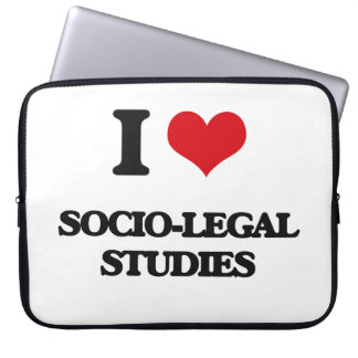 I Love Socio-Legal Studies Laptop Sleeves
