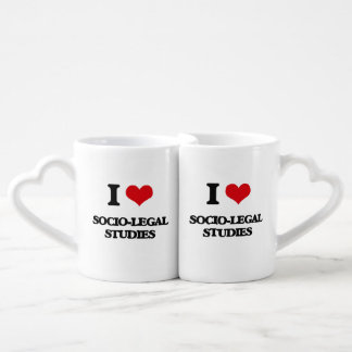 I Love Socio-Legal Studies Couples' Coffee Mug Set