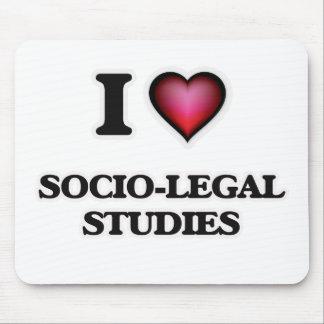 I Love Socio-Legal Studies Mouse Pad
