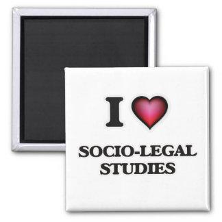 I Love Socio-Legal Studies Square Magnet