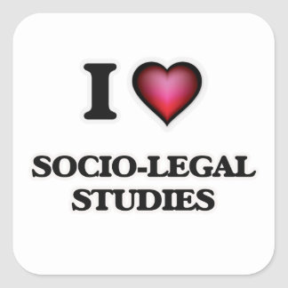 I Love Socio-Legal Studies Square Sticker