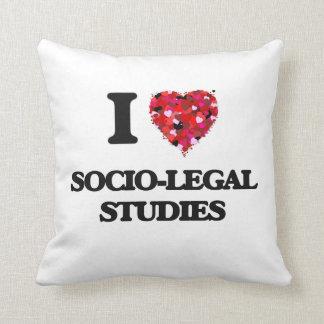 I Love Socio-Legal Studies Throw Cushions