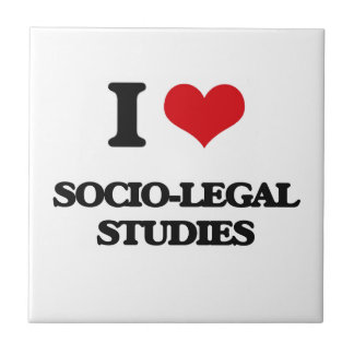 I Love Socio-Legal Studies Small Square Tile
