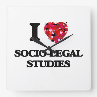 I Love Socio-Legal Studies Wall Clock
