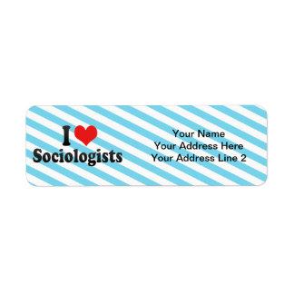 I Love Sociologists Return Address Label