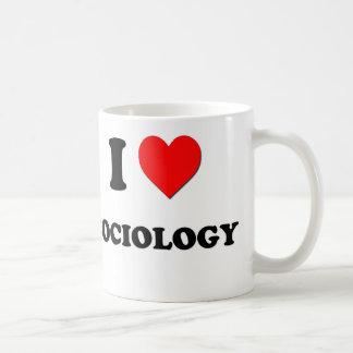 I love Sociology Basic White Mug