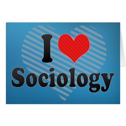 I Love Sociology Cards