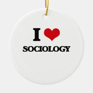 I Love Sociology Christmas Ornament