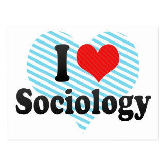 I Love Sociology Postcard