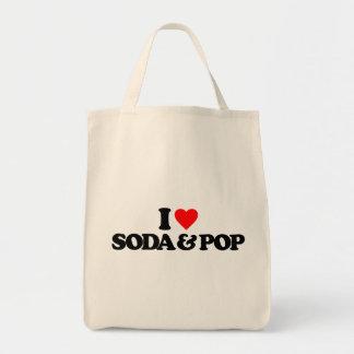 I LOVE SODA & POP GROCERY TOTE BAG