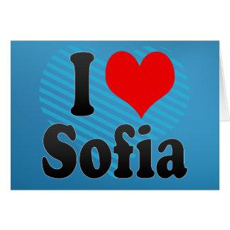 I love Sofia Greeting Card