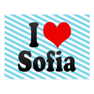 I love Sofia Post Card