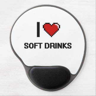 I Love Soft Drinks Gel Mouse Pad