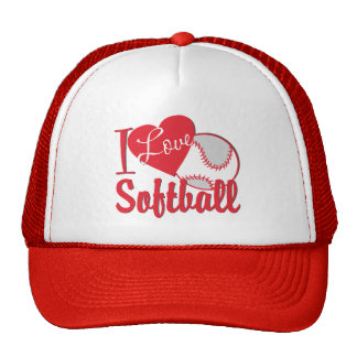 I Love Softball Trucker Hat