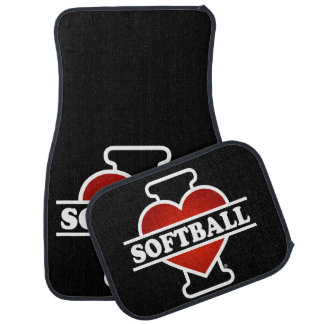 I Love Softball Car Mat