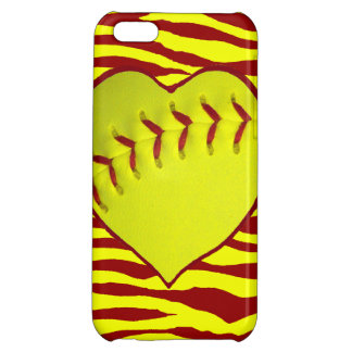 I Love Softball Cover For iPhone 5C