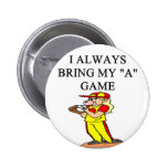 i love softball pin