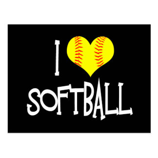 I love softball postcard