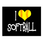 I love softball postcards