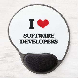 I love Software Developers Gel Mouse Pad
