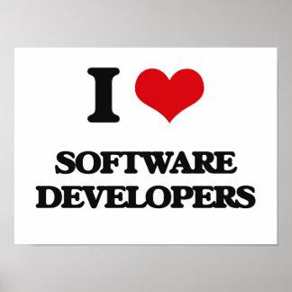 I love Software Developers Poster