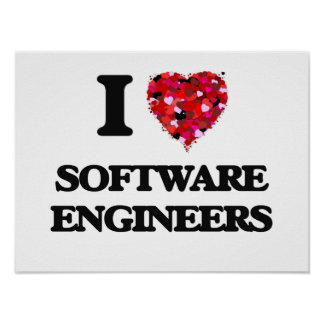 I love Software Engineers Poster