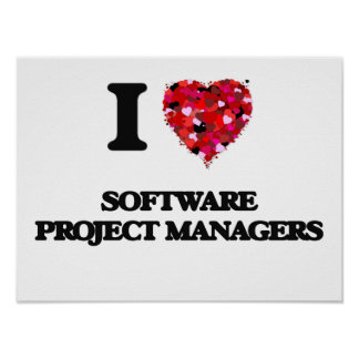 I love Software Project Managers Poster