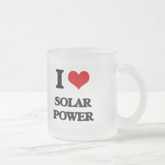 I love Solar Power Frosted Glass Mug