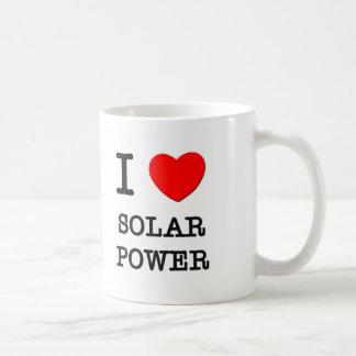 I Love Solar Power Basic White Mug