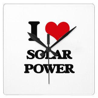 I love Solar Power Wall Clocks