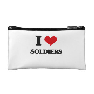 I Love Soldiers Makeup Bags