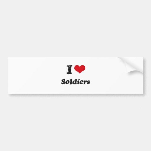 I Love SOLDIERS Bumper Sticker