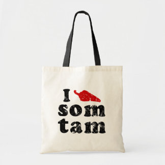 I Love Som Tam ❤ Thai Isaan Food Tote Bag