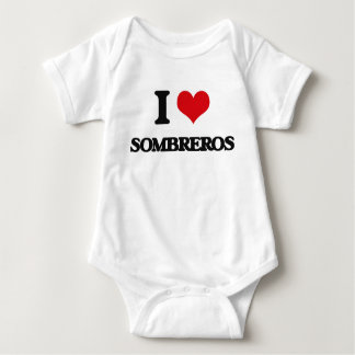 I love Sombreros Baby Bodysuit