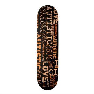 I Love Someone Autistic Pattern Skate Decks