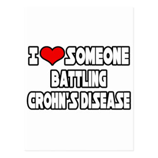 I Love Someone Battling Crohn's Disease Postcard