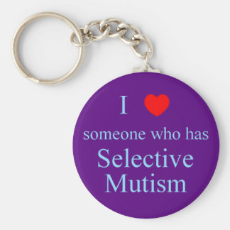I Love Someone Selective Mutism Key Ring
