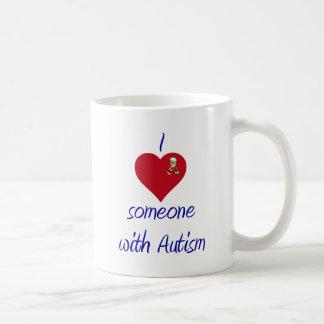 I love someone w Autism Basic White Mug
