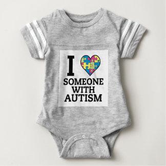 I LOVE SOMEONE WITH AUTISM BABY BODYSUIT