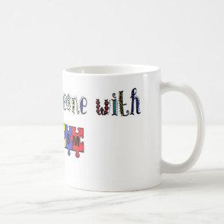 I Love Someone With Autism Basic White Mug