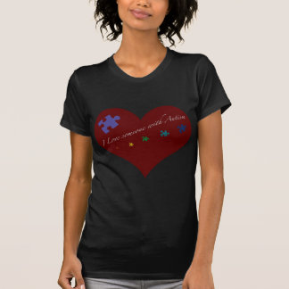 I love someone with Autism Heart Tee Shirt