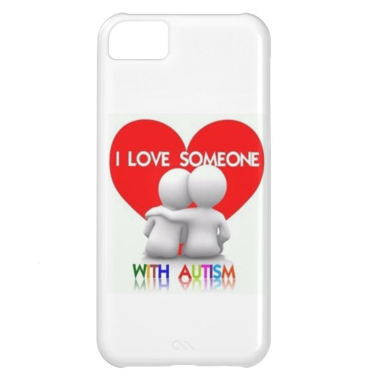 I LOVE SOMEONE WITH AUTISM IPHONE CASE