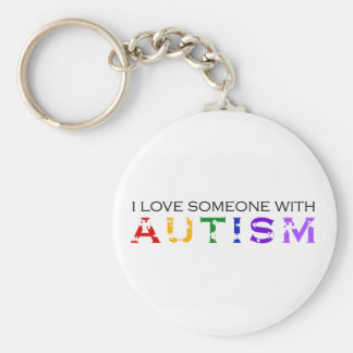 I Love Someone With Autism Key Ring