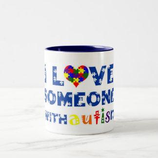 I love someone with autism mug