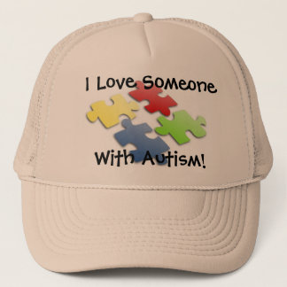 I Love Someone With Autism! Trucker Hat