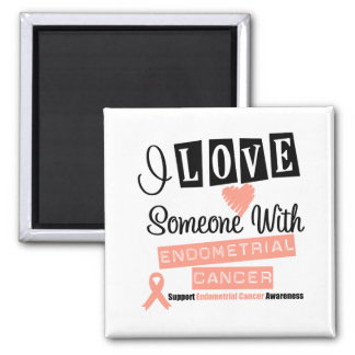 I Love Someone With Endometrial Cancer Magnets