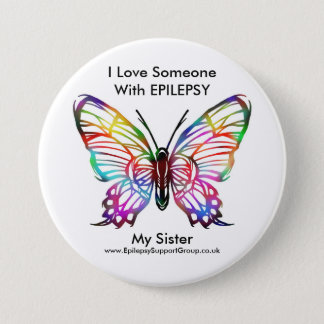 I love someone with epilepsy 7.5 cm round badge