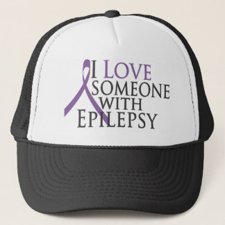 i love someone with epilepsy trucker hat