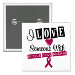 I Love Someone With Sickle Cell Anaemia Pinback Button