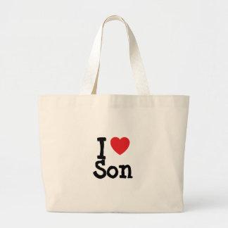 I love Son heart T-Shirt Bag